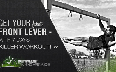 Get Your First Front Lever Progression With This 7 Days Workout